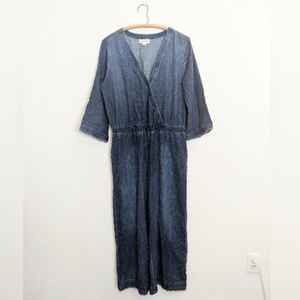 NWOT Cloth & Stone Cropped Chambray Jumpsuit